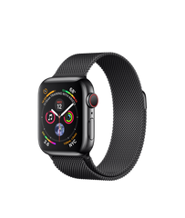 Apple Watch Series 4 (GPS+LTE) 40mm Space Black Stainless Steel Case with Space Black Milanese Loop (MTUQ2)