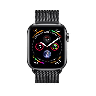 Apple Watch Series 4 (GPS+LTE) 44mm Space Black Stainless Steel Case with Space Black Milanese Loop (MTV62)